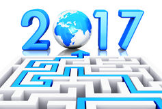 Concept 2017 de nouvelle année illustration stock