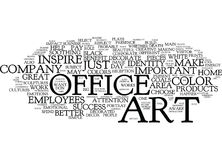 Concept de nuage d'Art For The Successful Office Word Photographie stock libre de droits
