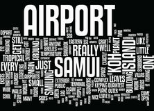 Concept de nuage de Koh Samui Airport Text Background Word Photographie stock libre de droits