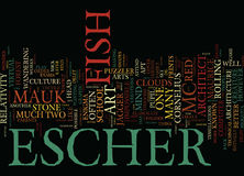 Concept de nuage de Maurice Cornelius Escher Mc Escher Text Background Word Photo libre de droits