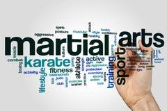Concept de nuage de mot d'arts martiaux images stock
