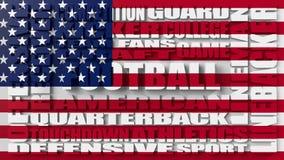 Concept de nuage de mot de football américain Image libre de droits
