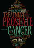 Concept de nuage de Word de fond des textes de traitement contre le cancer de Team Approach Urged In Prostate illustration libre de droits