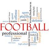 Concept de nuage de Word du football Photo stock