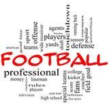 Concept de nuage de Word du football dans des chapeaux rouges Photo libre de droits