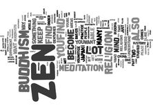 Concept de nuage de Zen And You Text Background Word Photographie stock libre de droits