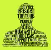 Concept de nuage de mot d'humanité Photographie stock libre de droits