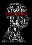 Concept de nuage de mot d'humanité Photos libres de droits