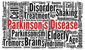 Concept de nuage de mot de la maladie du ` s de Parkinson illustration libre de droits