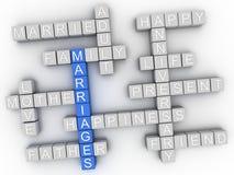 concept de nuage de mot de mariage de l'imagen 3d Photographie stock libre de droits