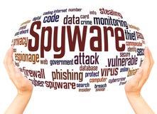 Concept de nuage de mot de Spyware illustration libre de droits