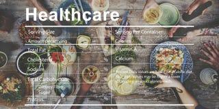 Concept de nutrition de bien-être de bien-être d'ingrédients de soins de santé Photographie stock