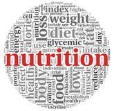 Concept de nutrition en nuage de tags Photo libre de droits