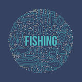 Concept de pêche Photographie stock