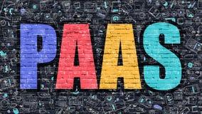 Concept de PAAS avec des icônes de conception de griffonnage Images libres de droits