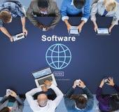 Concept de page d'accueil de données numériques d'ordinateur de logiciel photographie stock