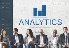 Concept de page d'accueil des finances APP d'Analytics Image libre de droits