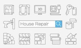 Concept de page ou de bannière de site de titre pour l'amélioration de l'habitat Photo stock