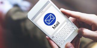 Concept de page Web d'application de Digital d'email Photos libres de droits