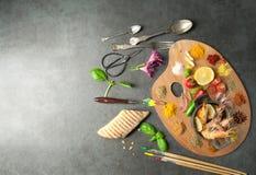 Concept de palette de nourriture Image libre de droits
