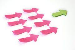 Concept de papier de bussiness de flèches d'amorce. Photos libres de droits