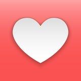 Concept de papier de coeur Photographie stock libre de droits
