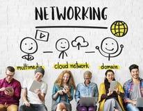 Concept de part de réseau de connexion de communication Photographie stock