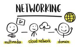 Concept de part de réseau de connexion de communication Photo stock