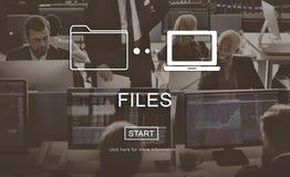 Concept de part de réseau de message d'informations sur les données de dossiers Photos libres de droits