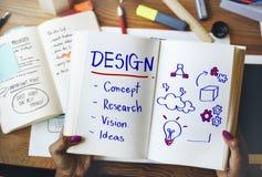 Concept de pensée créative de conception de développement d'inspiration photographie stock