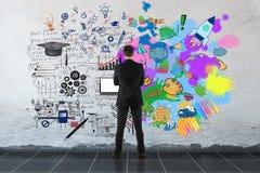 Concept de pensée créative et analytique Photos stock