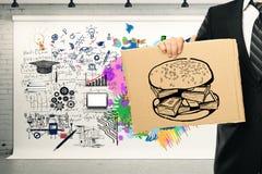 Concept de pensée créative et analytique Images libres de droits