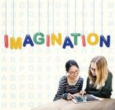 Concept de pensée d'idée de rêve de créativité d'imagination Image libre de droits