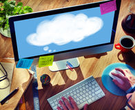 Concept de pensée d'imagination d'idées de bulle de pensée Photos stock