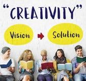 Concept de pensée d'imagination de vision de créativité Image libre de droits