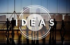 Concept de pensées de stratégie de vision de conception de plan d'idées photo stock