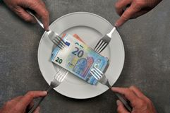 Concept de pension alimentaire image stock