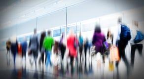 Concept de permutation de marche occasionnel de ville d'heure de pointe de personnes Photographie stock libre de droits