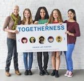 Concept de personnes de diversité de relations d'unité d'amitié Photo stock