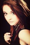 Concept de personnes - portrait d'adolescente photos stock