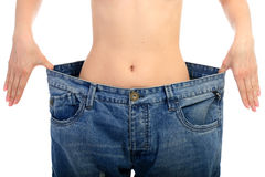 Concept de perte de poids. Photographie stock