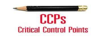 Concept de photo de signe de CCPs ou de symbole, points de contrôle critiques Photos stock