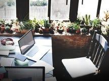 Concept de pièce d'espace de travail de conception de siège social Photo libre de droits