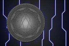 Concept de pièce de monnaie d'EOS Plate-forme de blockchain de Cryptocurrency, argent de Digital images libres de droits