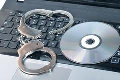 Concept de piratage Photographie stock libre de droits