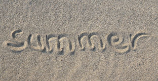 Concept de plage d'été Image libre de droits