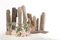 Concept de plage -- flotteurs en verre images libres de droits