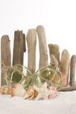Concept de plage - flotteurs en verre, verticaux photographie stock