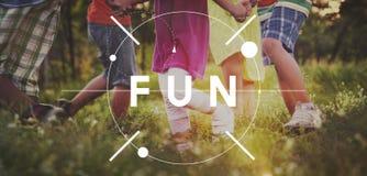 Concept de plaisir de plaisir de bonheur de plaisir d'activités d'amusement photos stock