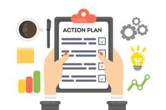 Concept de plan d'action illustration libre de droits